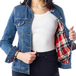Parasuco Ladies Flannel Lined Denim Jacket